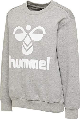 Hummel Hmldos - Felpa Unisex per Bambini, Unisex - Bambini, Tops, 203659, Grigio, 128