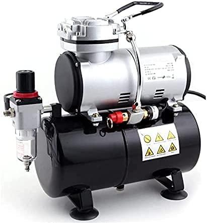 Airbrush Kompressor AS-186 Neues Modell Kolbenkompressor Ölfrei 3 Liter Luftbehälter / Luftspeicher
