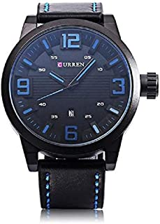 Curren Casual Watch For Men Analog Leather - 8241