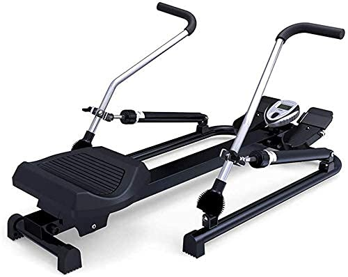 YAJIAN Equipo de fitness, máquina de remo - Máquina plegable multifunción Casa silenciosa Máquina de remo hidráulica de la cintura Equipo de aptitud deportivo, ajuste de resistencia dual, adecuado par