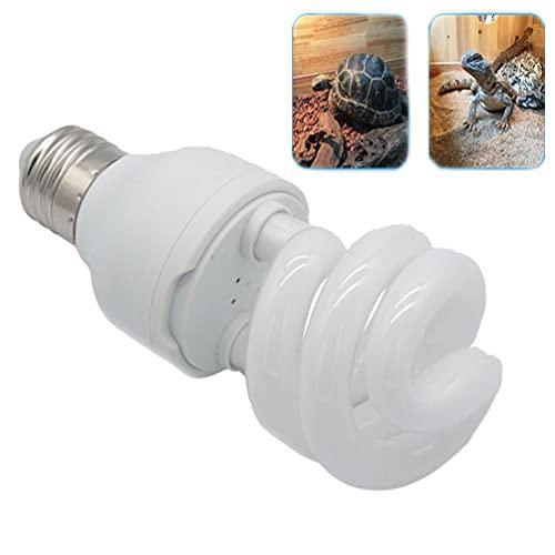 UVB Reptile Light 10.0, bombillas de tortuga, lámpara de terrario compacta que ahorra energía para reptiles del desierto, mascota, serpiente, lagarto, insecto, leopardo, tubo en espiral (UVB10