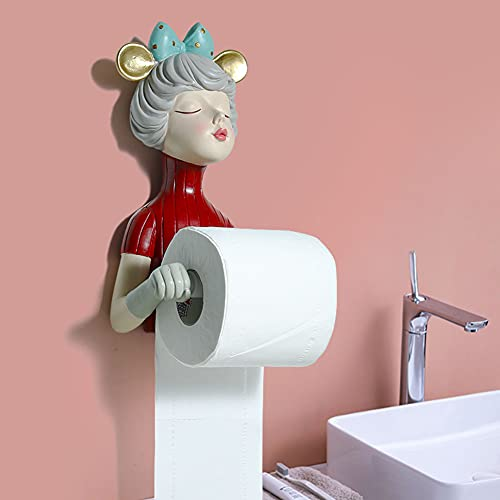 Cakunmik Tierkopf Katze Hängende Wand Papierhandtuchhalter/Stanzen Free Box Taschentücher Toilettenpapier Bad Rollenpapier Rohre Aus Unterstützung,B