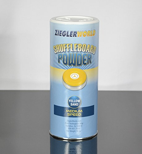 New ZieglerWorld 1 can Yellow Sand Table Shuffleboard Powder Wax - Medium Speed