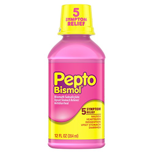 Pepto Bismol Liquid for Nausea, Heartburn, Indigestion, Upset Stomach, and Diarrhea Relief, Original Flavor 12 oz