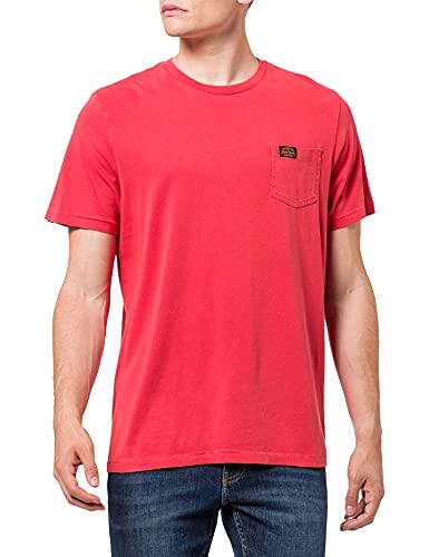 Superdry Mens M1010856A T-Shirt, Volcanic Lava Orange, XL