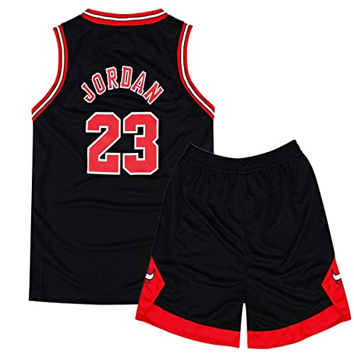 Rying Kinder Herren Basketball Trikots Set - Bulls #23 Jordan/Lakers #23 James/Warriors #30 Curry Basketball-Shirt Weste Top Sommershorts für Jungen und Mädchen