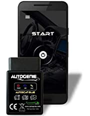 Autogenie© REAL-TIME-gegevens op mobiele telefoon Bluetooth OBD2 auto Bluetooth – Android. Für Android - Bluetooth zwart
