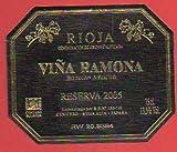 Etiqueta: VIÑA RAMONA. Reserva 2005.