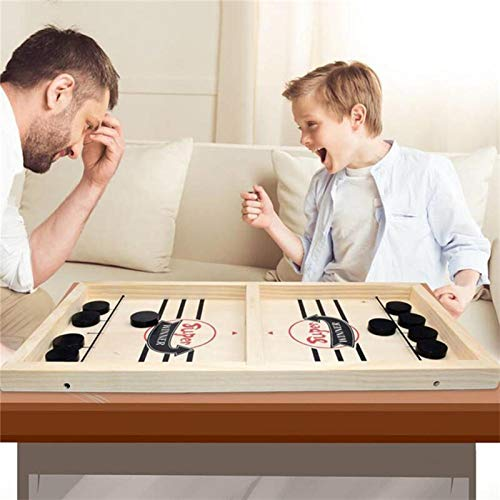 RSMAO Wooden Hockey Game, Sling Games Fast Sling Puck Table Game Paced, Tinfence Table Desktop Battle, Winner Board Games Toys for Family Board Games Big