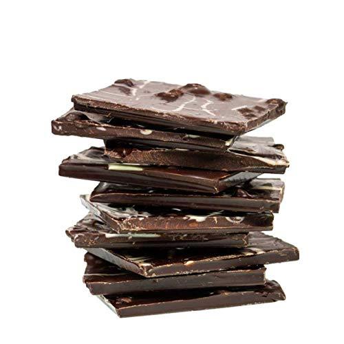 Edle Zartbitterschokolade mit Espressobohnen und Weißer Schokolade: Bruchschokolade in 230 g Tüte