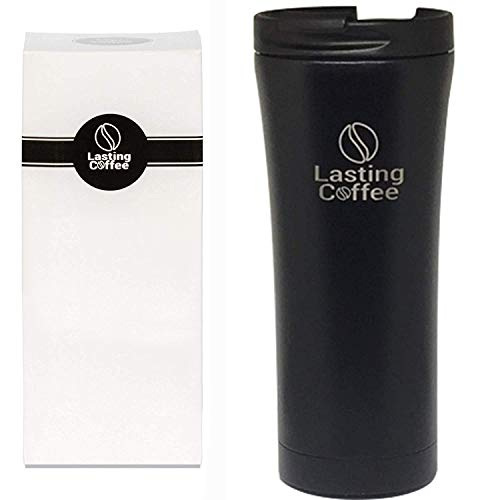 Lasting Coffee Leak Proof Dishwasher Safe Double Wall Vacuum Insulated Stainless Steel Travel Mug, 16 oz (Matte Black)