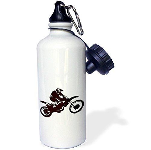 Motocross Bike Off Road Motorcross Motorrad Motorx Radical Silhouette Tricks Sport Wasser Flasche Edelstahl-Flasche für Frauen Herren Kinder 400ml