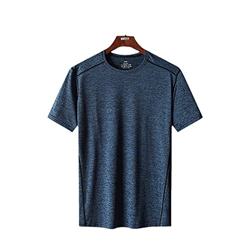 Damaifirstes Camiseta Escalada,Camiseta Delgada Delgada Delgada Slim Slim Screed Screed Screed Seco-Azul Marino_8XL