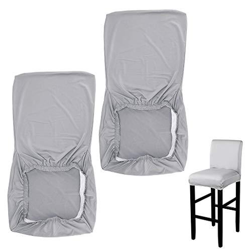BSTKEY 2 fundas elásticas para sillas laterales de altura – taburetes de bar – Funda protectora