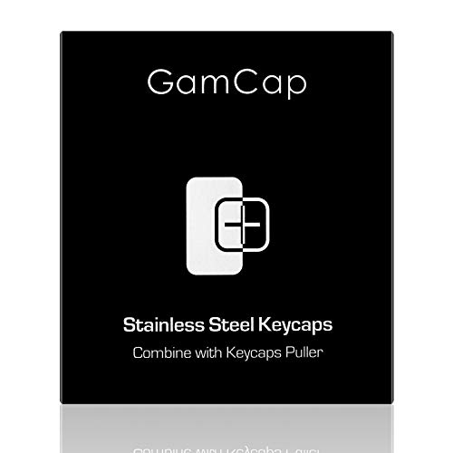 GamCap FPS & MOBA Custom Gaming Keycap,Keycaps ESC Include Key Puller,Durable Stainless Steel Metal Keycap Compatible with Mechanical Gaming Keyboard 60% Keyboard Cherry Mx Switch(ESC-Fancy)