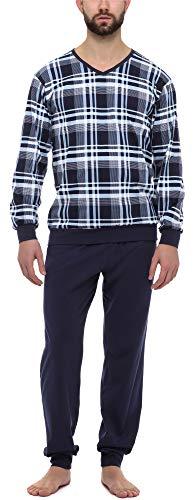 Timone Pijama Conjunto Camisetas y Pantalones Vestidos de Casa Hombre TI30-107 (9555408 Marino, S)