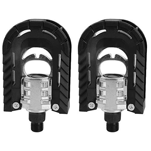 1 Pair Bike Folding Pedal, Aluminum Alloy Mountain Bike Pedals Bicycle Pedals for Outdoor Cycling