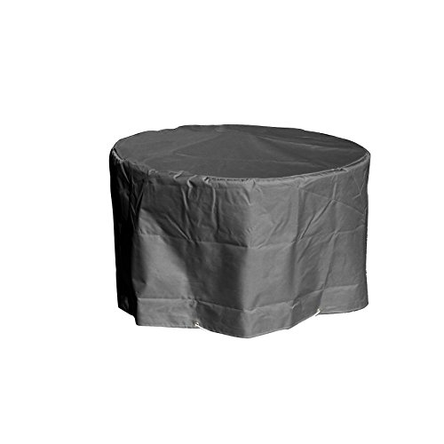 GREEN CLUB Housse de Protection pour Table de Jardin Ronde Haute qualité Polyester D 120 x h 70 cm Couleur Anthracite