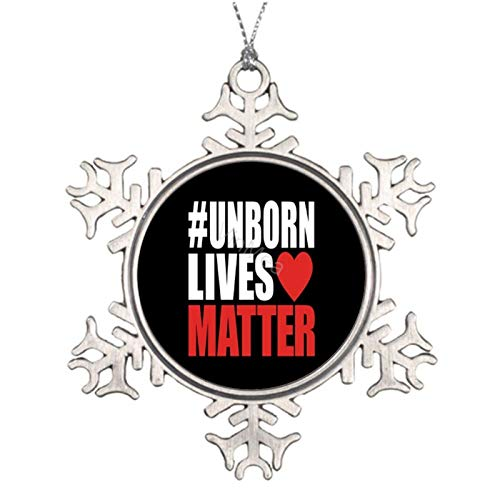 2020 Christmas Tree Ornament - Unborn Lives Matter Ceramic Double-Sided Printed Holiday Christmas Family & Friends Gift