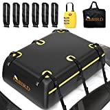 KING BIRD Rooftop Cargo Carrier Bag, 20 Cubic Feet 100% Waterproof Car Top Carrier with Non-Slip Bottom + 6 Door Hooks + Luggage Lock Fits All Vehicles with or Without Roof Rack
