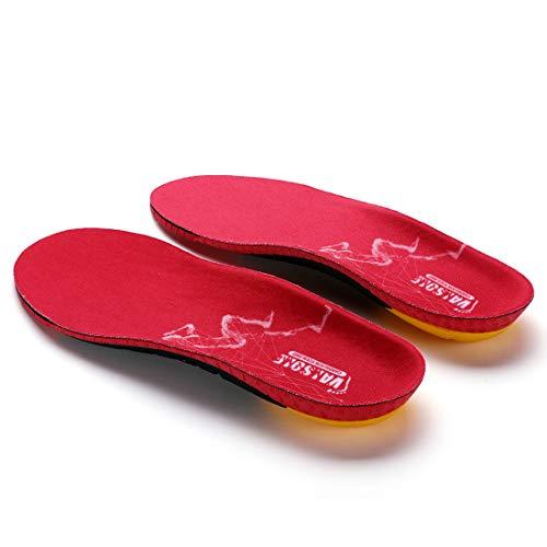 Valsole Sport Cómodas Plantillas - proporciona una absorción de los impactos y una amortiguación superior - para el dolor de talón, espolones del talón, pies planos, Fascitis Plantar