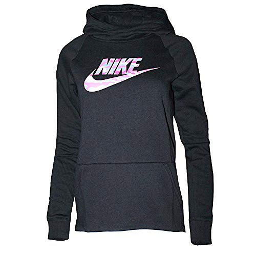 Nike Youth Girls Fleece Hoodie Active Black CD7537 010 (s)