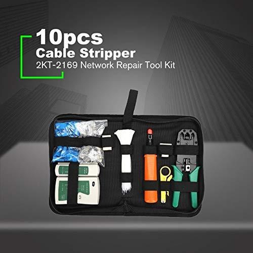 RAQ 10/12 stks/set Draagbaar LAN Netwerk Reparatie Tool Kit UTP Kabel Klem Tang Kabel Tester Draad Crimper Stripping Crimping Pliers Spanje 10 stks