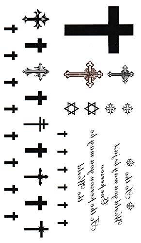 (キングホース)KING HORSE タトゥーシール クロス 十字架 Cross-1【レギュラー】 (hm603)