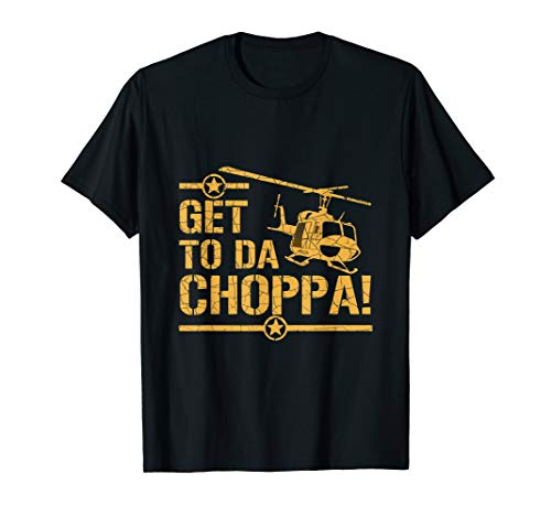 * NEW * Get to the Choppa Predator T-shirt, 10 Colors for Adults, Kids