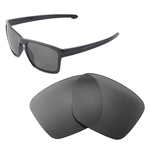 Walleva Ersatzgläser für Oakley Sliver XL Sonnenbrille, mehrere Optionen erhältlich (schwarz – polarisiert)
