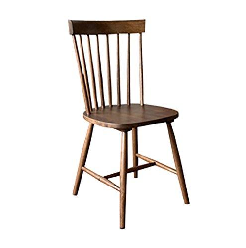 LHcy Wood Dining Stuhl Windsor Chairs Rückenlehnenstuhl Einfacher und klassischer Coffee Chair Esszimmerstühle (Farbe : A)