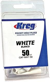 Kreg CAP-WHT-50 White Plastic Plugs 50-Count
