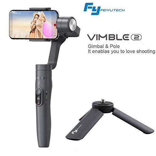 Feiyu Vimble 2 estensibile palmare 3-axis Gimbal stabilizzatore per smartphone (interno 15,2 cm, interno 200 g) con treppiede stabilizzatore asta