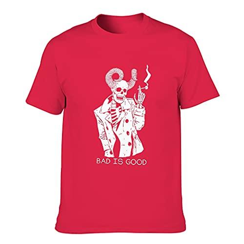 Camiseta de algodón para hombre con diseño de manga corta Red1 XXXXXXL