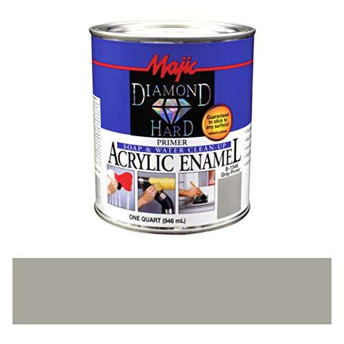 Majic Paints Diamond Hard Primer Acrylic Enamel Paint, 1-Quart, Gray Primer