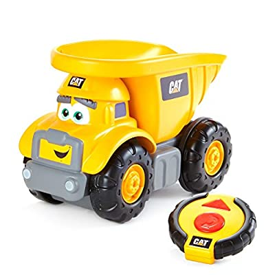 CatToysOfficial Construction Junior Crew Lil' Movers Remote Control Truck, Remote Control Car, Dump Truck Toy - RC Trucks (82454) by Funrise