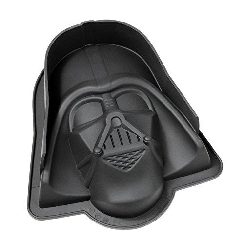 Gedalabels 20566 Moule à manqué Star Wars-Darth Vader en Silicone Noir, 22 x 20,5 x 6,8 cm