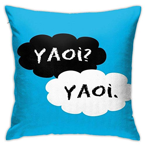 Hdadwy Yaoi Yaoi Fundas de Almohada gráficas Funda de Almohada Decorativa Suave para sofá Sofá Cama Silla 18x18 Pulgadas
