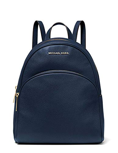"""Style Number: 30S0GAYB6L Pebbled leather with gold tone hardware Exterior details: Zip around closure, front zip pocket Interior details: tablet compartment, back zip pocket, 4 front slip pockets 10.5""""W X 12.5""""H X 5.75""""D; Adjustable back straps: 26""""-..."""