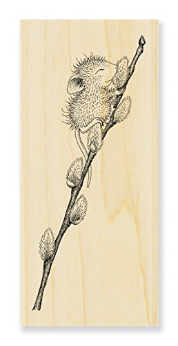 Stampendous HMN01 House Mouse Wood Stamp, Willow Climb