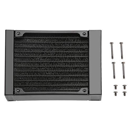 Richer-R 120mm/240mm/360mm Aluminium Radiator, Computer Wasserkühlung Aluminiumheizkörper G1 / 4 Gewinde,12 Röhren Wasserkühler Kühlkörper Radiator für PC Wasserkühlung(120mm)