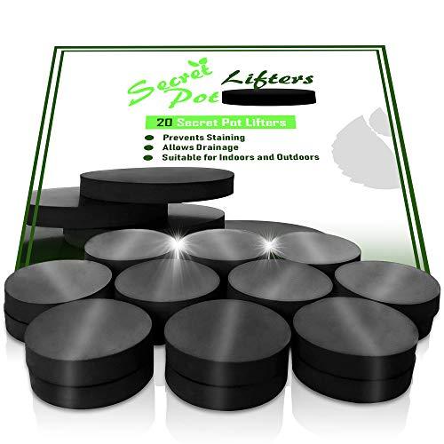Gummifüße für Blumen-/Pflanzgefäße, 20Stück, schlankes und diskretes Design, niedriges Profil, Anti-Rutsch-Gummi