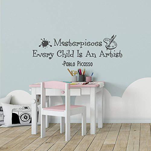 Creativity Wall Sticker Vinyl, Every Child is an Artist Art Display Wall Sticker for Nursery Baby Child Room Decoration