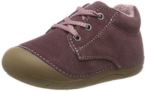 Lurchi Baby Mädchen Flori Sneaker, Rot (Cassis 43), 22 EU