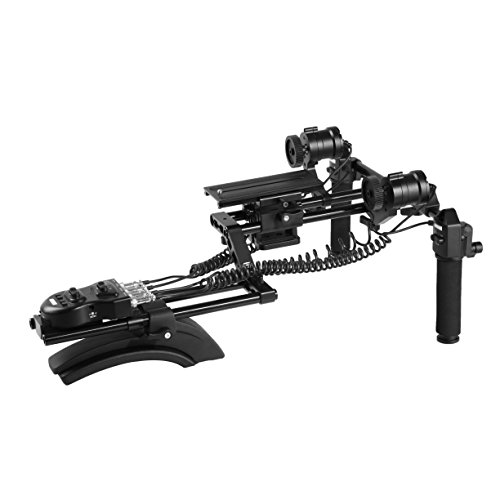 Movo MFF400 DSLR Shoulder Rig with Motorized Follow Focus and Zoom Control - Camera Shoulder Mount for DSLR Cameras