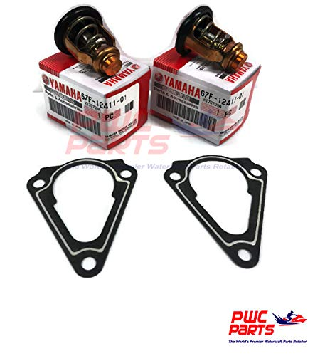 2x YAMAHA OEM F150 TWIN Outboard Thermostat 67F-12411-01-00 & Gasket Set 63P-12414-00-00