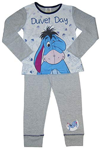 Disney Character Mädchen-Schlafanzug, I-Aah, für ältere Größen Gr. 5-6 Jahre, Eeyore Bettdecke Day