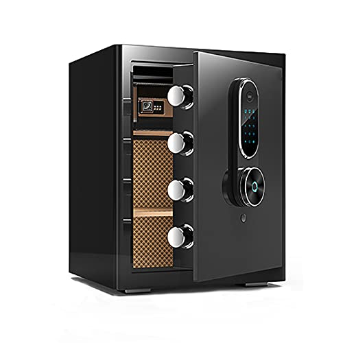 GQTYBZ Caja Fuerte Digital, Caja Fuerte con Llave y ContraseñA/Patrón de Mano, Desbloqueo Remoto de Caja Fuerte IgníFuga, para el Hogar/Oficina/Interior, Etc.