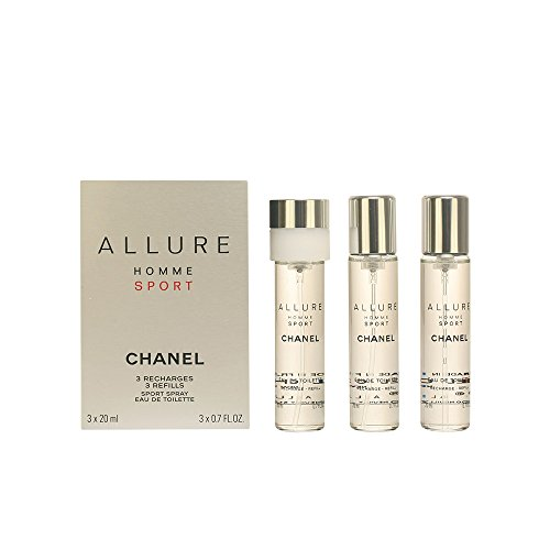 Chanel Allure Homme Sport Giftset 3x Eau De Toilette Spray Refill 20ml - Twist And Spray 60ml