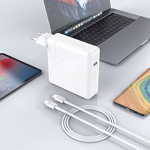 Compatible con el Cargador Mac Book Pro USB C, Cargador Mac Book USB C Compatible con Mac Book 16, 15,13 Pulgadas, el Nuevo Mac Air 13 Pulgadas 2018/2019/2020, Adaptador Corriente USB C para Mac Book